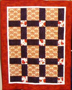 "An ""ABC"" kit quilt, long armed by Mary Tennant."