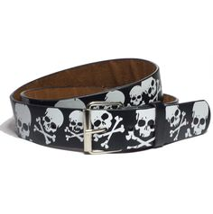#ebay men black with skulls and bones graphic belt snanp on replaceable buckle faux le withing our EBAY store at  http://stores.ebay.com/esquirestore