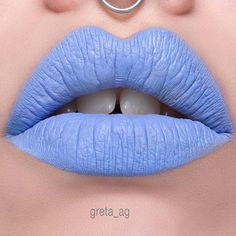 Vivid blue lips makeup does not require you to be childish or preparing for the Halloween! #makeup #makeuplover #makeupjunkie #lips