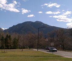 The Flatirons from afar.