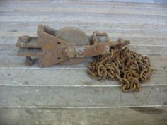 Old Rusty Pulley | Second Use, Seattle: Building Materials, Salvage, & Deconstruction