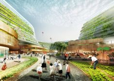 Agriculture Minded Retirement Community Keeps Greenthumbed - Agriculture Minded Retirement Community Keeps Greenthumbed Residents Happily Occupied Offering Its Residents Much More Than A Small Plot Homefarm Is A Retirement Development With Full On Urban # Architecture Design, World Architecture Festival, Green Architecture, Landscape Architecture, Landscape Design, Vertical City, Vertical Farming, Urban Agriculture, Urban Farming