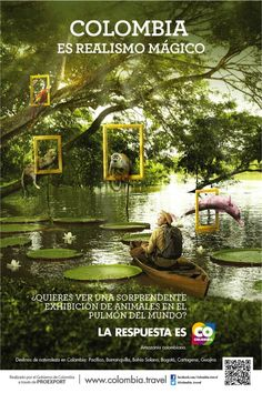 Amazonas - Colombia Colombia Tourism, Colombia Travel, Places Around The World, Around The Worlds, Colombia South America, Tourism Poster, Country Landscaping, Caribbean Sea, Vintage Travel Posters