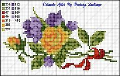 Thrilling Designing Your Own Cross Stitch Embroidery Patterns Ideas. Exhilarating Designing Your Own Cross Stitch Embroidery Patterns Ideas. Simple Cross Stitch, Cross Stitch Rose, Cross Stitch Flowers, Cross Stitch Charts, Cross Stitching, Cross Stitch Embroidery, Hand Embroidery, Embroidery Patterns, Cross Stitch Patterns