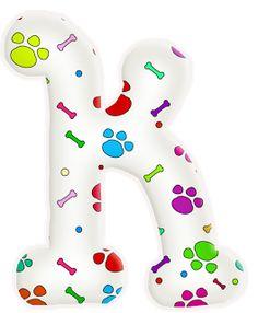 Alfabeto de huellas de perritos. | Oh my Alfabetos!
