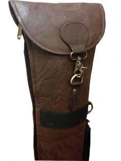 John Shooter Durable Leather Shotgun Slip - Foldable Manufactured from durable brown leather this shot gun slip features a full length zip thick
