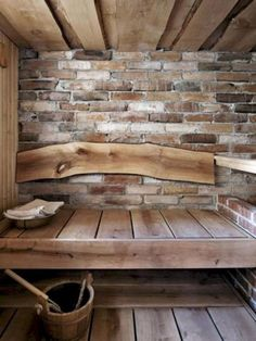 Persoonallinen stone and wood sauna. Labor Junction / Home Improvement / House Projects / Sauna / Cabin / House Remodels / www.laborjunction… - ALL ABOUT Diy Sauna, Sauna Ideas, Sauna Steam Room, Sauna Room, Rustic Saunas, Design Sauna, Sauna Hammam, Sauna Shower, Outdoor Sauna