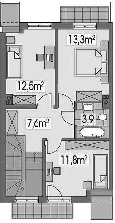 Projekt domu Nutka L 102 m2 - koszt budowy 151 tys. zł - EXTRADOM Floor Plans, Floor Plan Drawing, House Floor Plans