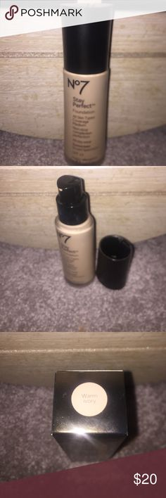 Boots No. 7 Stay Perfect Foundation Used about 2 times, great coverage, comes with a pump, wrong color for me shade: Warm Ivory for all skin types. price negotiable Boots No. 7 Makeup Foundation