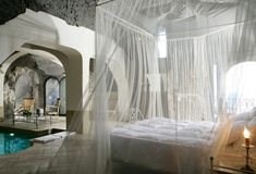 This is so whimsical, I almost don't believe it... Bellevue Syrene hotel on the Amalfi Coast, Italy