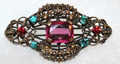 Antique Brooch Pin with C Clasp Closure | eBay