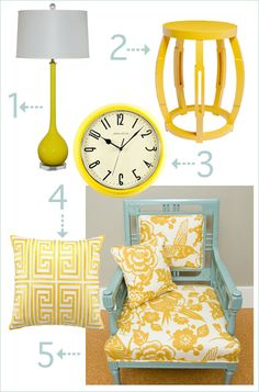 Yellow Room Accessories