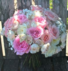 Garden Roses, pale pink, ivory