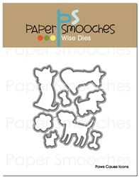 Paws Cause Icons Dies  #PaperSmooches