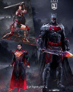 Arte Do Superman, Batman Vs Superman, Batman Art, Dc Comics Characters, Dc Comics Art, Superhero Design, Superhero Poster, Batman Redesign, Dc Trinity