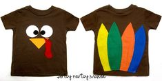 Cute shirts to make the kids for thanksgiving just add a tutu for lil miss