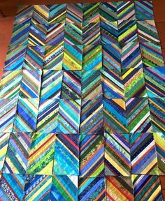 Maryandpatch, Blue and Green String Quilt More