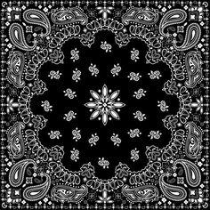 Black And White Bandana Pattern Comforters by Marta Olga Klara - Twin: x Red Media, Black Media, Rock Poster, Bandana Design, Iphone Skins, Cute Stickers, Pattern Art, Framed Art Prints, Paisley