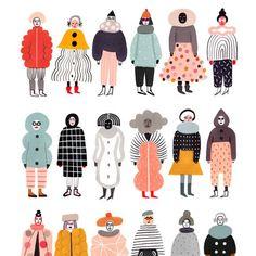 """O inverno está chegando e já está quase na hora de tirar os casacos dos armários. A artista Ilka Mészely criou uma série de ilustrações intitulada """"Stay Warm"""" onde o foco são casacos ge…"""