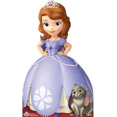 Sofia The First Life Size Cutout, FREE shipping offer, 50% off tableware, and same day order processing from Birthday Direct - Sofia The First Party Supplies