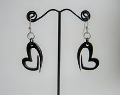 Laser cut acrylic earrings for Valentine's Day