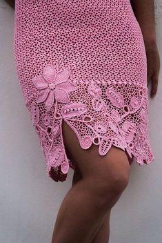 beautiful border for crochet skirt
