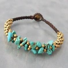 @Overstock - This fun bracelet is embellished with reconstructed turquoise and brass beads, perfect for a boho look. This cotton rope bracelet was handmade in Thailand and closes with a jingle bell toggle clasp. http://www.overstock.com/Worldstock-Fair-Trade/Brass-Beads-and-Turquoise-Cluster-Boho-Jingle-Bell-Bracelet-Thailand/6133731/product.html?CID=214117 $20.99