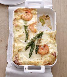Spargel-Lasagne mit Riesengarnelen - Rezepte - [LIVING AT HOME]
