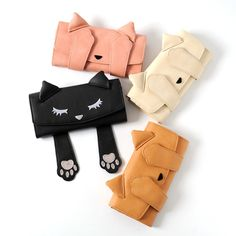 The darling kitty **Pooh-chan** wants to play a game of **peek-a-boo** with you! This **faux leather long wallet** is available in **four stylish colors** including **black, ivory, beige,** and **pink,** and uses a **snap closure** to secure all of your important items. Inside you'll find plenty of room for your cash, change, and cards, as well! Consider pairing it with the other matching Peek-...