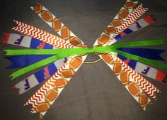 Gator Tailgate Party-O gator sports hair bow by MeSewCuteByAllen