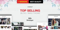 CheerUp Blog / Magazine - WordPress Blog Theme CheerUp is a theme with luxury design options, tailored to be exceptional on all kinds of blogs and minimal magazines. Not only the built-in modern design choices are aesthetically pleasing, it's packed with over 200 possible layout combinations suitable for blogs and elegant magazines.