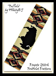 Buffalo Bracelet Pattern | Bead-Patterns.com