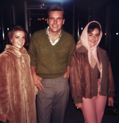 Natalie Wood and Robert Wagner with Elizabeth Taylor