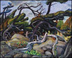 Arthur Lismer (Group of Seven), Pines, Georgian Bay Group Of Seven Artists, Group Of Seven Paintings, Canadian Painters, Canadian Artists, Landscape Art, Landscape Paintings, Landscapes, Tom Thomson, Art Moderne