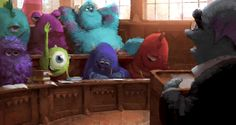 """Concept art from """"Monsters University"""""""