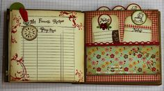 Awesome Image of Scrapbook Cookbook Ideas Projects Scrapbook Cookbook Ideas Projects Whiff Of Joy Tutorials Inspiration Recipes Book Gi Mini Mini Albums, Mini Scrapbook Albums, Scrapbook Paper, Scrapbook Recipe Book, Mini Album Tutorial, Album Book, Book Journal, Journals, Notebooks