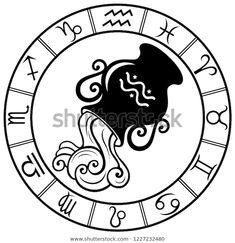 Стоковая векторная графика «Aquarius Horoscope Zodiac Sign Silhouette Isolated» (без лицензионных платежей), 1227232480 Aquarius Horoscope, Ancient Egypt, Textures Patterns, Zodiac Signs, Royalty Free Stock Photos, Silhouette, Illustration, Image, Graphics