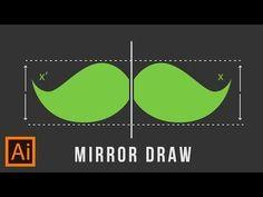 Illustrator Trick : Mirror Draw - YouTube