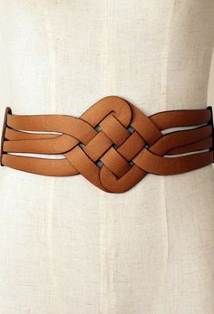 Cognac woven leather belt. It would be stunning in cobalt blue as well as black.