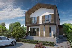 Villa Şimşek #villa #architecture #facade #shutters #wood