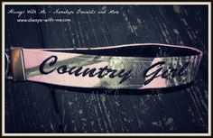 Pink Realtree Camo Keychain! Perfect for the Country Girl <3 Can be customized to say any name or phrase! Retail: $16