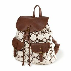 Floral Design Crochet Backpack | Claire's