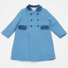 Wool Coat - Blue - online boutique shop for casual and formalwear