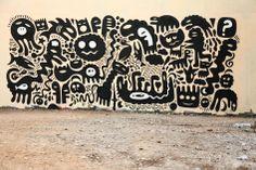 funk Murals Street Art, Street Art Graffiti, Mural Art, Doodle Wall, Sketch Manga, Inspiration Artistique, Street Artists, Wall Design, Anime Manga