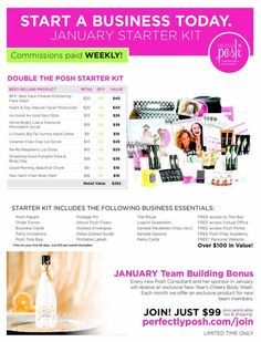 Check out our January starter kits with Perfectly Posh!  Join my team at www.perfectlyposh.com/aimee today!