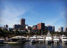 Stunning View of the Portland Skyline. Gotta love Oregon