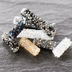 Take a look at these fabulous Swarovski®️ Fine Rocks Tube Beads. They come with or without (pictured) metal ends and various sizes. Released this year as part of Spring / Summer Collection. Take a look at our fabulous Online Store & Mobile App:i