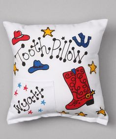 Love this Western Personalized Tooth Pillow by Bunnies and Bows on #zulily! #zulilyfinds