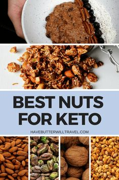 Nuts are an excellent keto option. They have many uses and are definitely an excellent snack. Check out this list of best nuts for keto. Low Carb Meal Plan, Low Carb Lunch, Low Carb Dinner Recipes, Ketogenic Recipes, Keto Recipes, Snack Recipes, Health Recipes, Keto Diet Breakfast, Keto Friendly Desserts