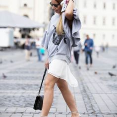 One happy gal! @mishuella in our #daisy #sweatshirt #ioanaciolacu.com White Shorts, Daisy, Street Style, Sweatshirts, Women, Fashion, Moda, Urban Style, Fashion Styles